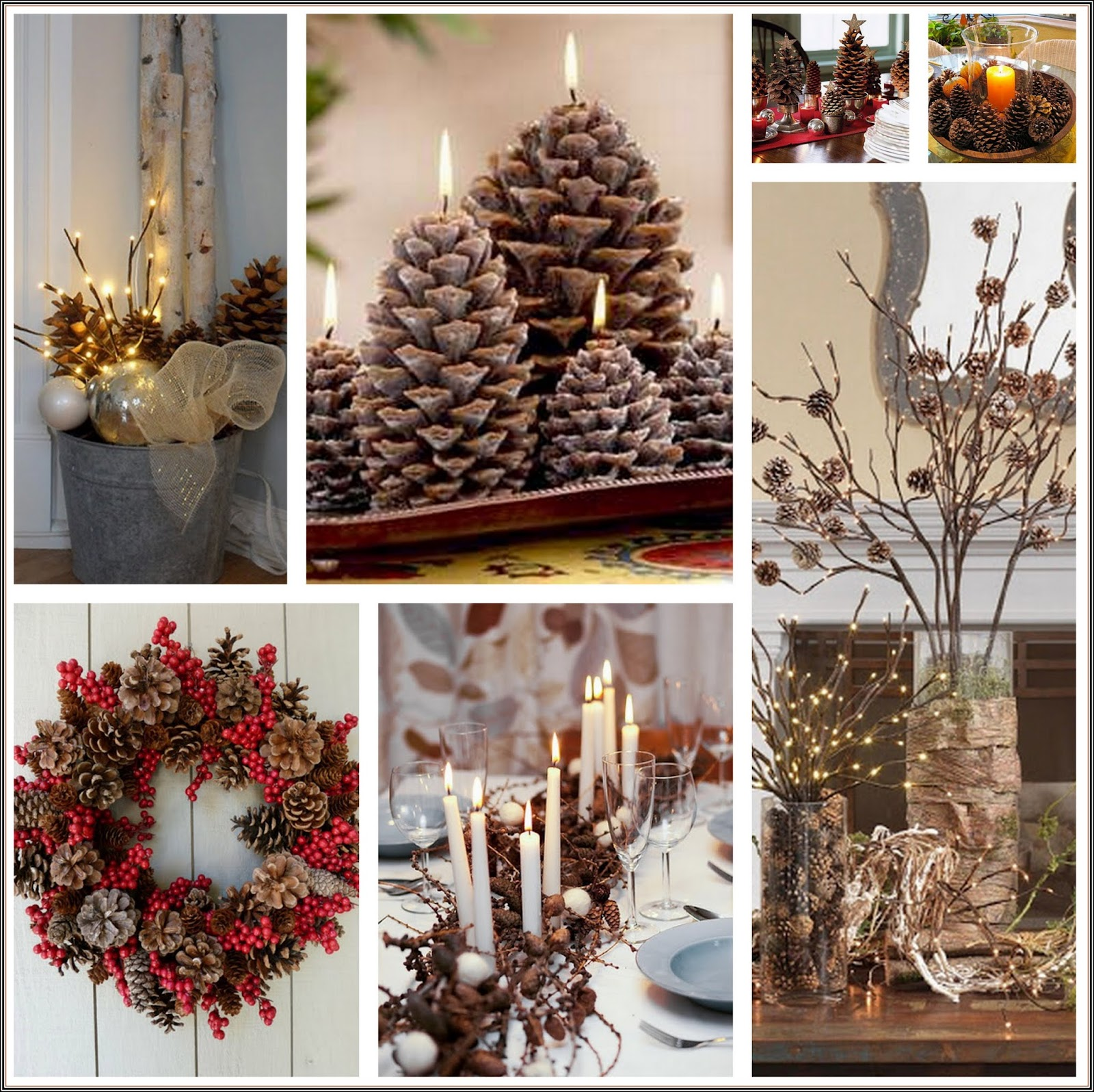 Insp rate en la naturaleza para decorar tu casa esta - Ideas para adornar la casa en navidad ...