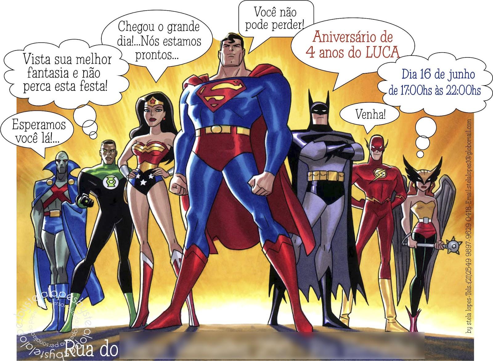 By Stelalopes Super Heróis Convite