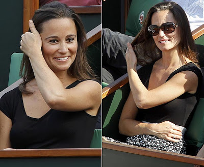 image 2 for pippa middleton at the french open gallery 946889021 Pippa Middleton looks ace in daring top at French Open