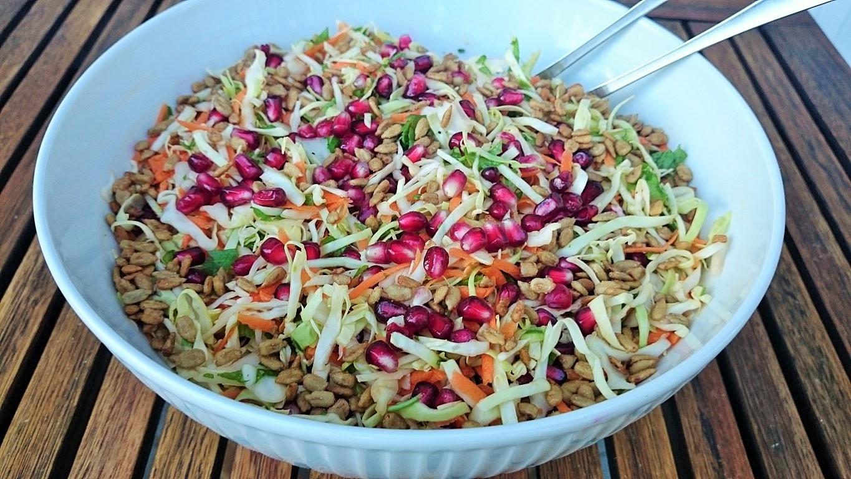 salat granatæble mandler