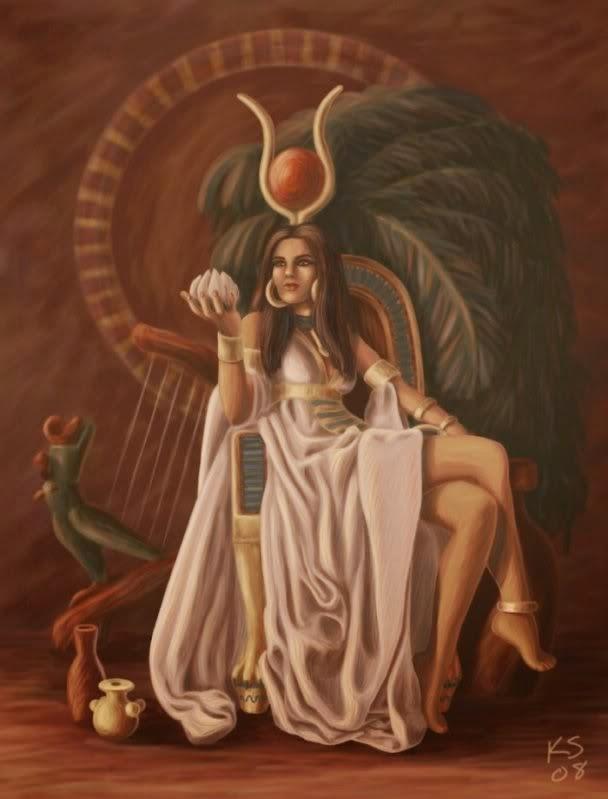 deuses do egito história e oração deusa hathor