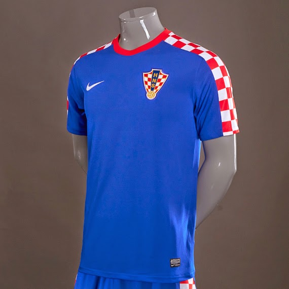 (Thailand) Croatia 2014 World Cup Away Soccer Jersey