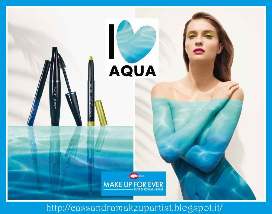 I LOVE AQUA - make up for ever - mufe - aqua smoky extravagant - aqua liner - aqua lip aqua matic - storia del brand - dany sanz - Muriel Hermine