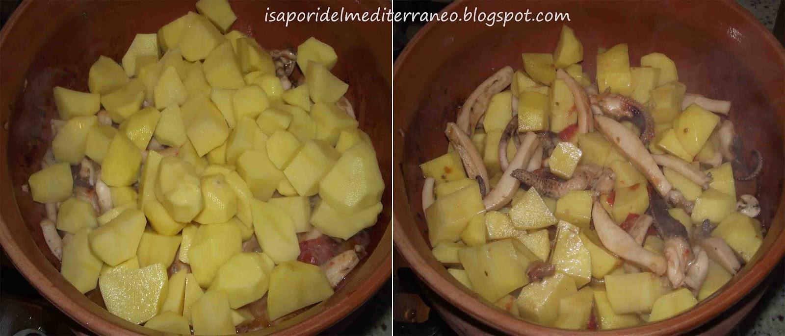Seppie e Patate.   i sapori del mediterraneo