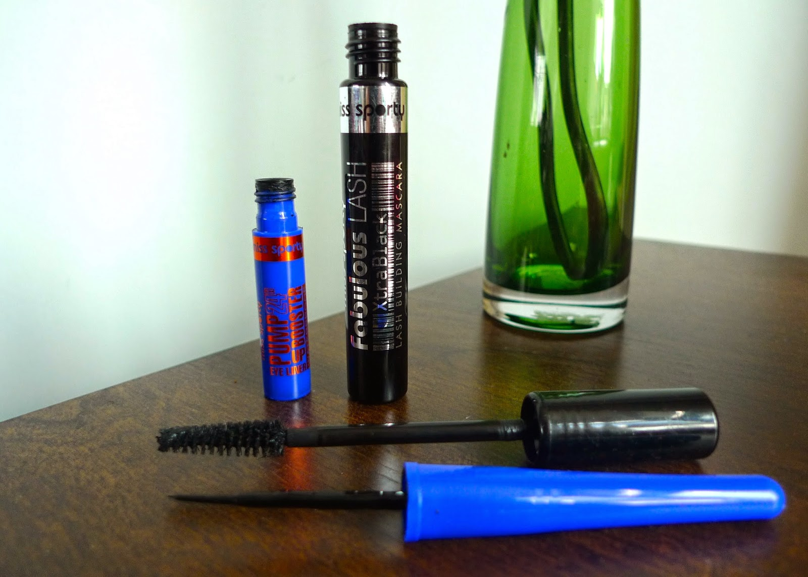 A review of Miss Sporty's Pump Up Booster Waterproof eyeliner and Fabulous Lash Mascara