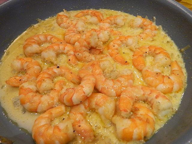 Ellen B Cookery: Sautéed Shrimp in Cream Sauce