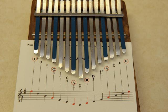 kalimba fingering chart