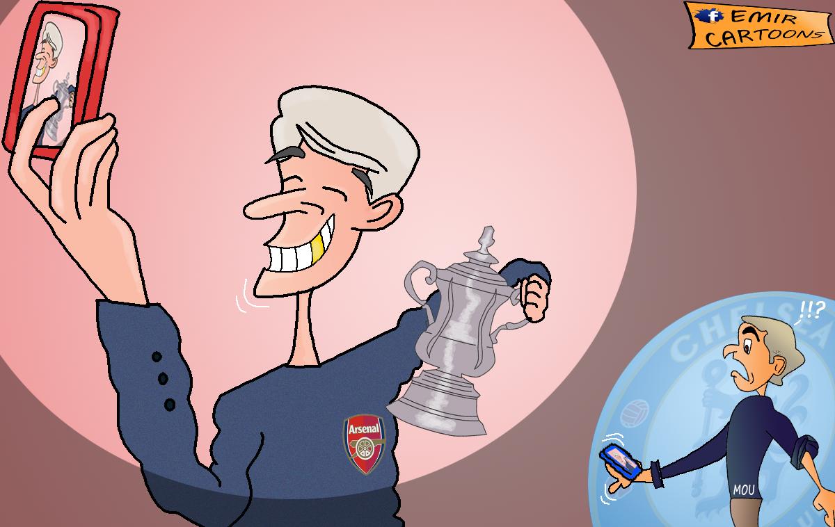 Hull,Arsenal,Arsenal 2014,Arsenal FA Cup,Mourinho, emir cartoons,emir balkan,fudbal,karikature,karikatura dana,nove karikature,