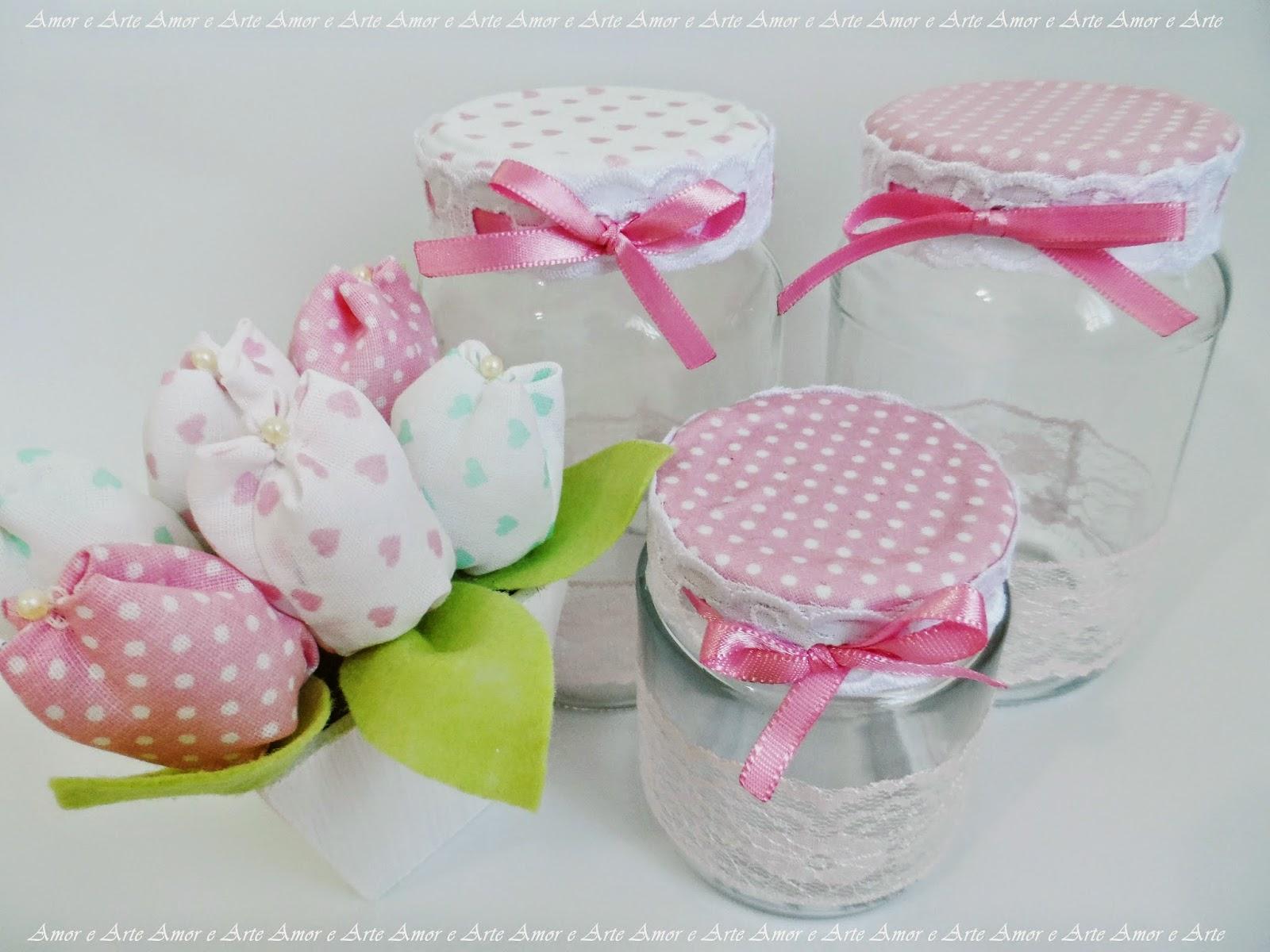 Vidros decorados - Kit Higiene, meninas