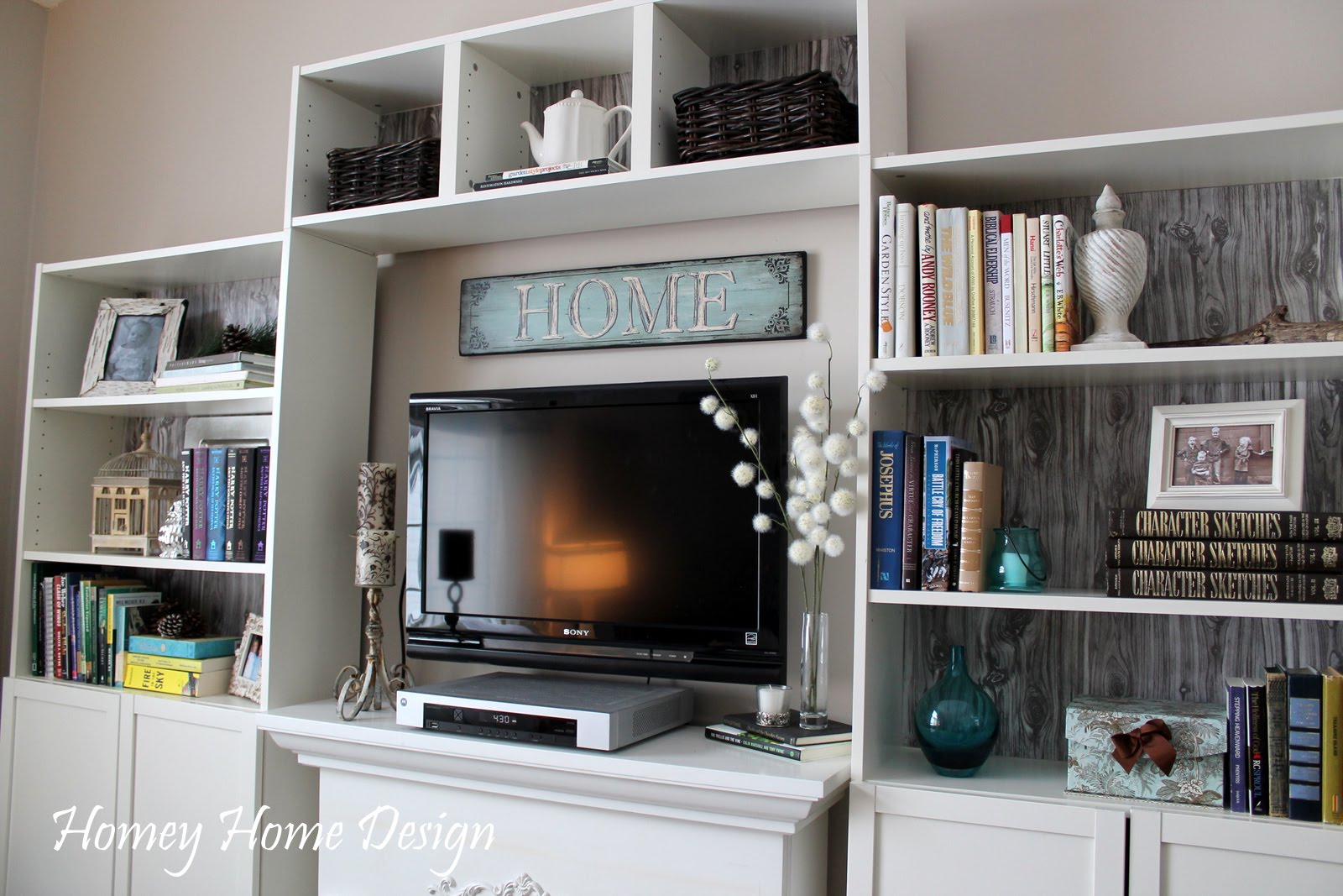 Living Room Shelves Decorating Homey Home Design Another Living Room Update