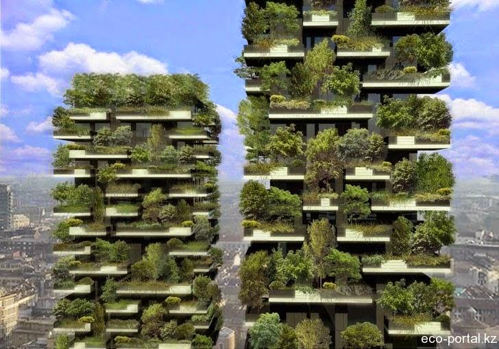 Alberi sul balcone di un grattacielo energie rinnovabili for Giardino verticale balcone