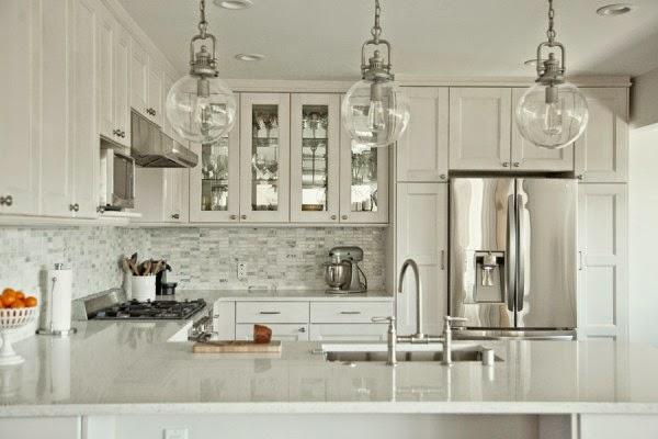 white stainless steel kitchen