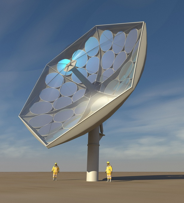 IBM solar concentrator generates electricity and enough heat for desalination or cooling