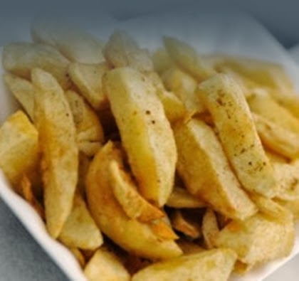 Chips from a fish and chip shop