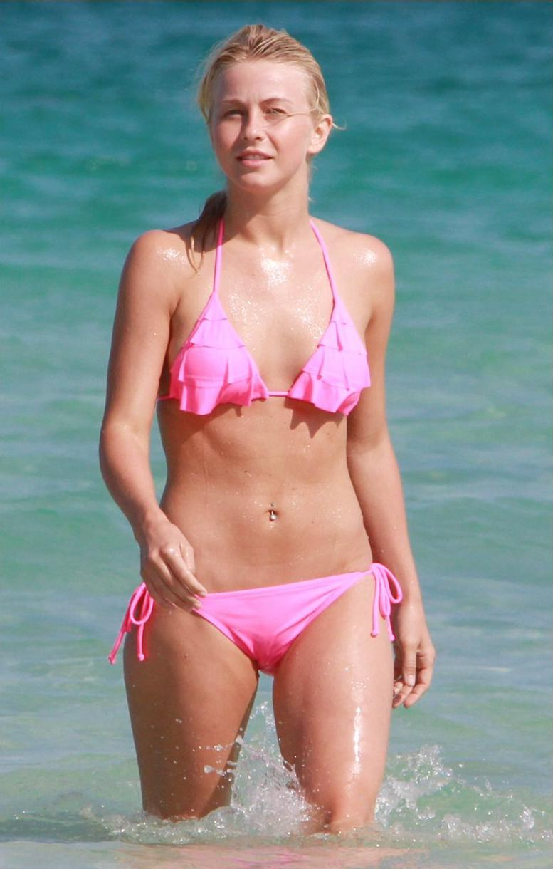 Julianne Hough Fun Day In The Sun Wore A Pink Bikini On Miami Beach