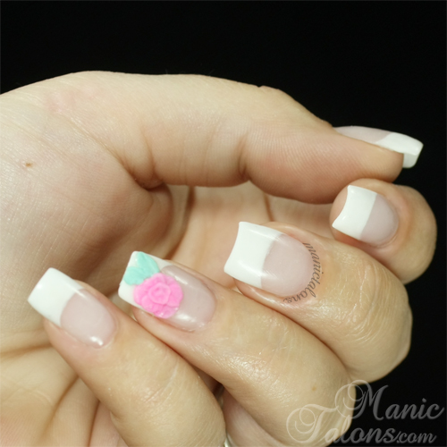 Sculpted Pink and White Acrylic Nails with Revel Nail Acrylic