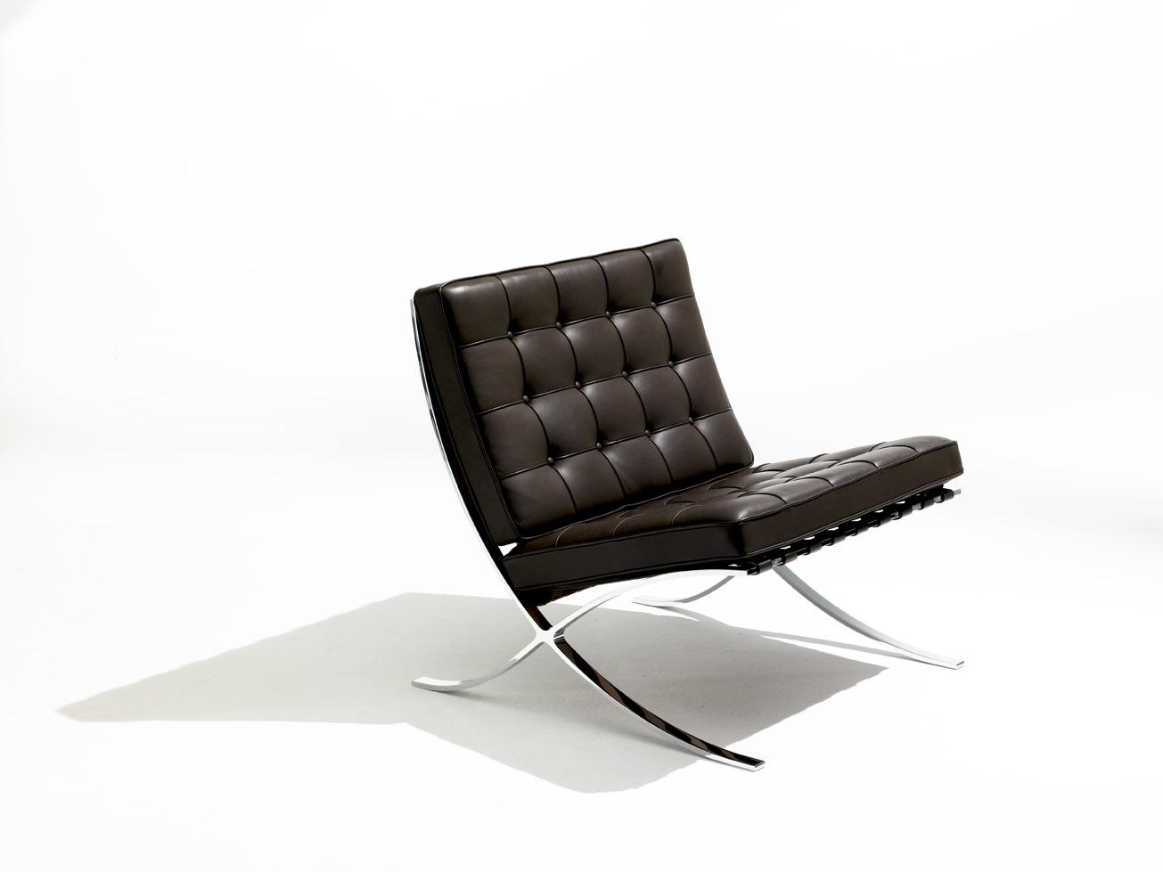 Stainless steel silla barcelona representante del for Sillas diseno barcelona