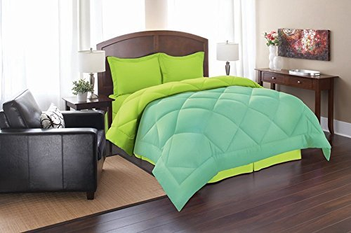 Lime Green Bedding: Total Fab: Turquoise Blue And Lime Green Bedding Sets