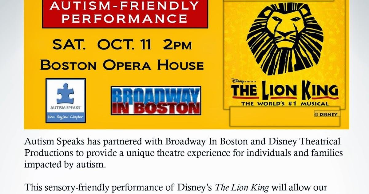 Autism Friendly Performance Of Disneys >> Nesca News Notes Autism Friendly Performance Of Disney S The Lion
