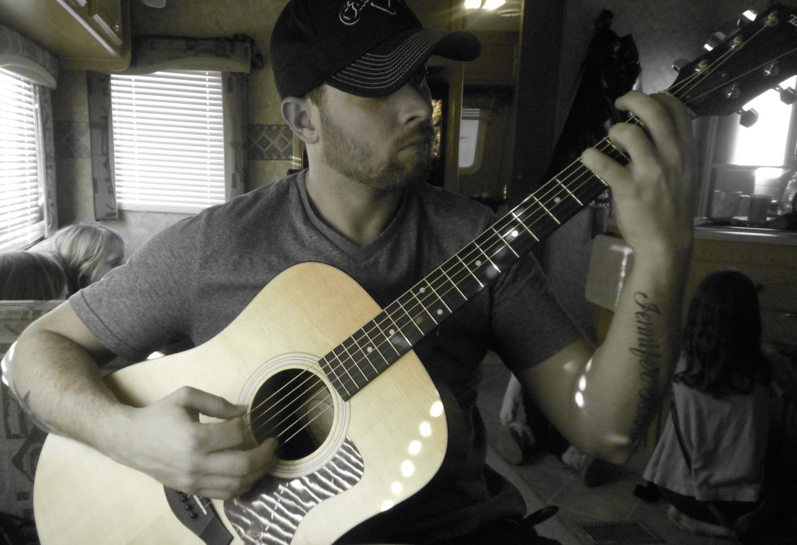 Rob and his guitar