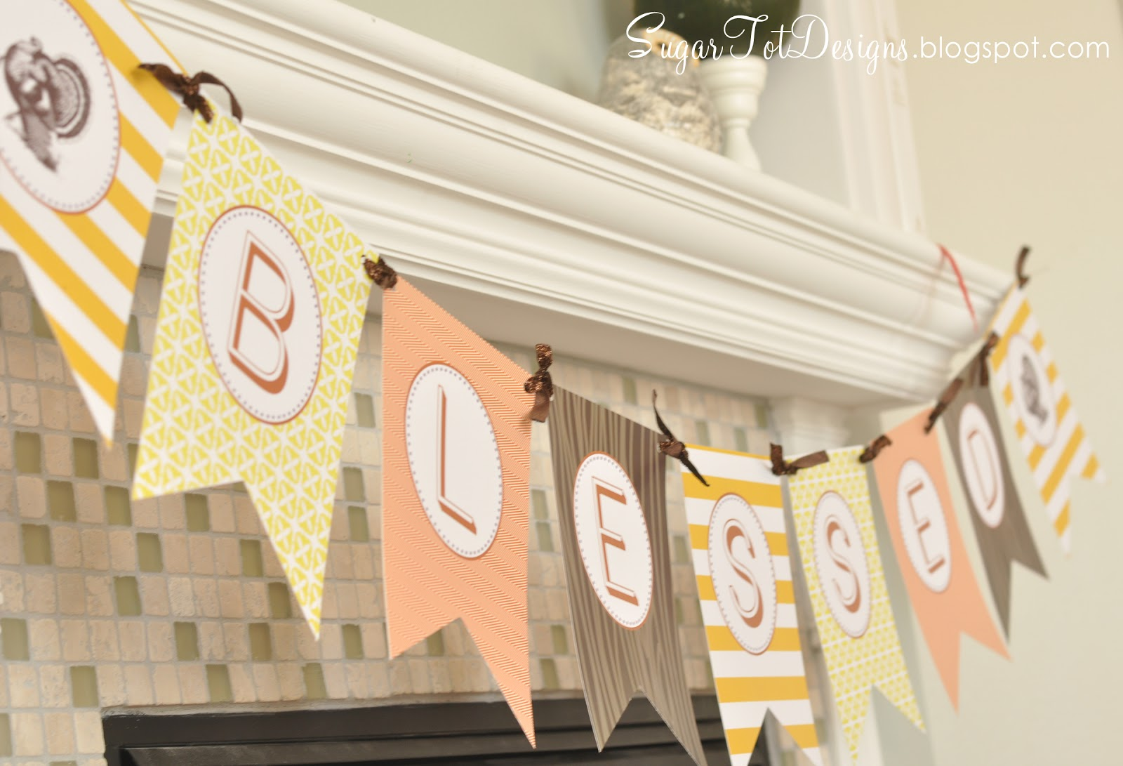 This is a graphic of Obsessed Thanksgiving Banner Printable