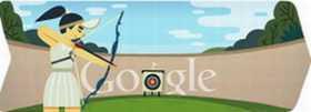 Londres 2012, tiro con arco doodle de Google