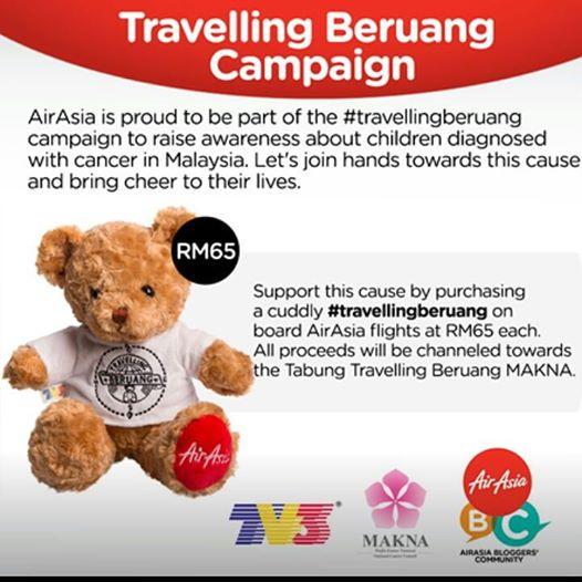 Travelling Beruang , Travelling , Beruang , Air asia, makna, kanser