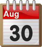 non working holiday august 30 2011