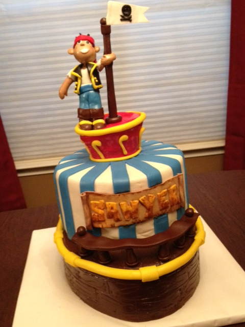 jake and the neverland pirates tiered cake - photo #9