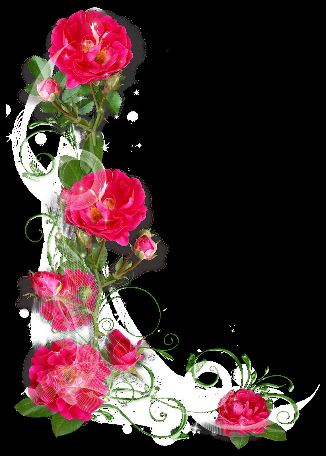 Colecci n de gifs marcos esquineros para fotos de flores for Decorar paginas