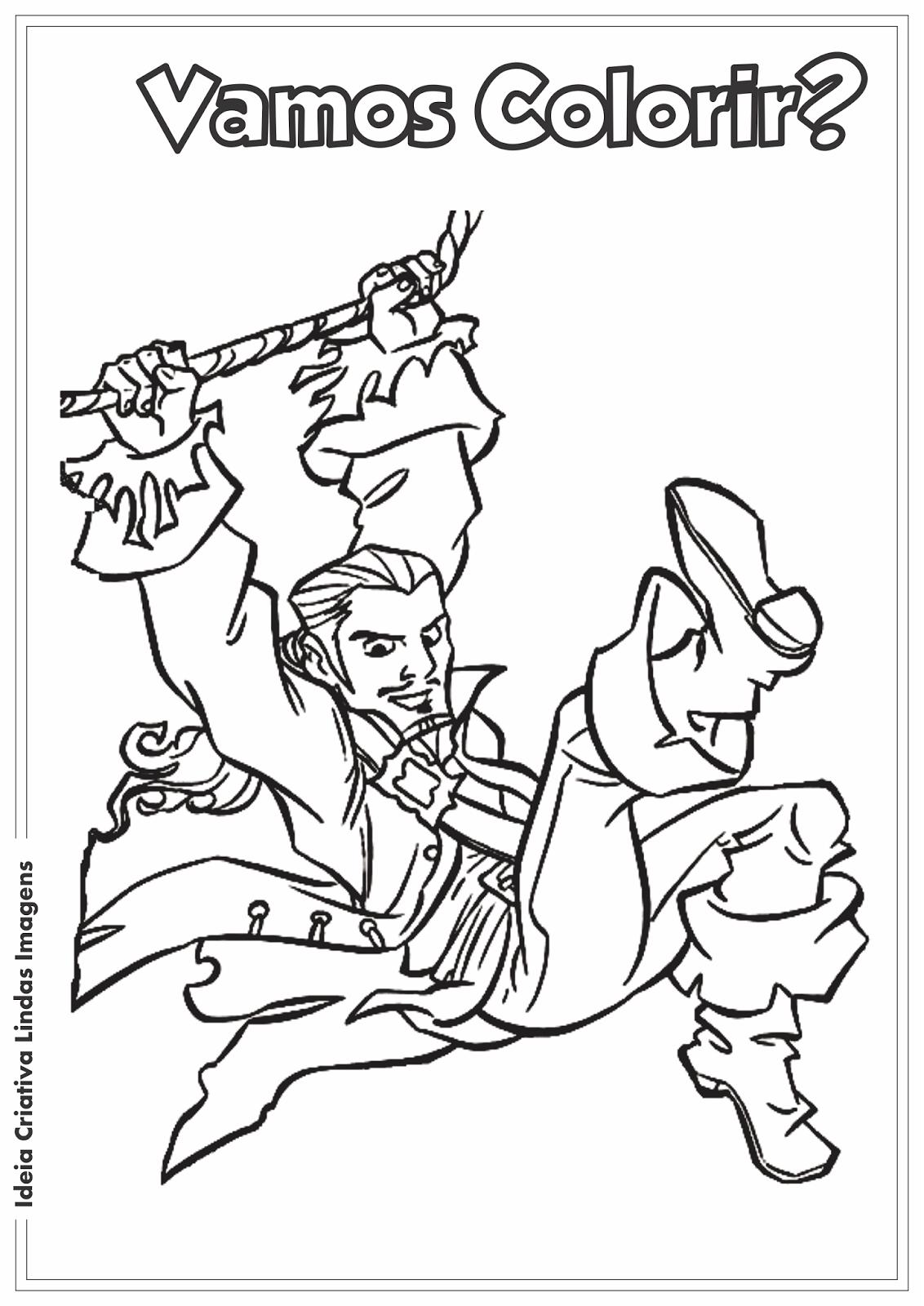 Desenho para colorir - Piratas do Caribe Will Turner