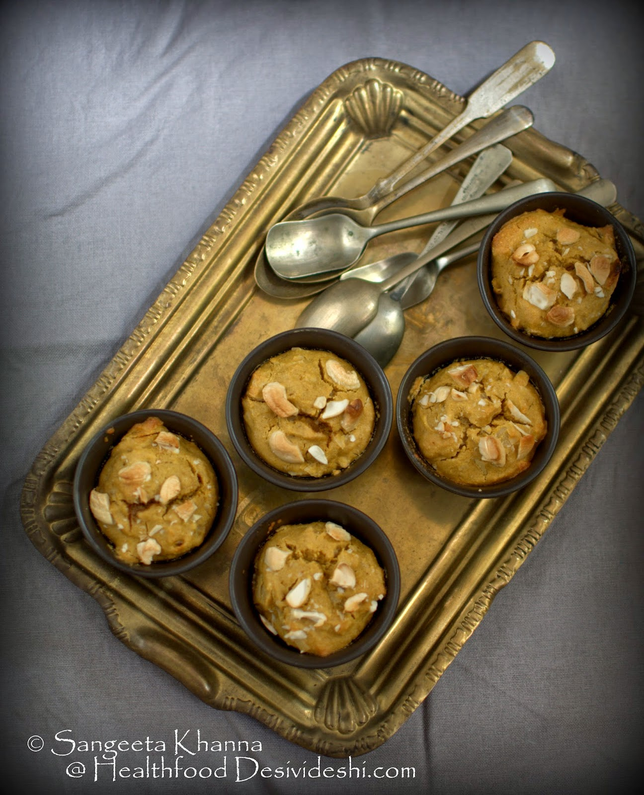 why not to use artificial sweeteners? A recipe of parippu pradhaman muffins using unrefined sugar for Indian soul