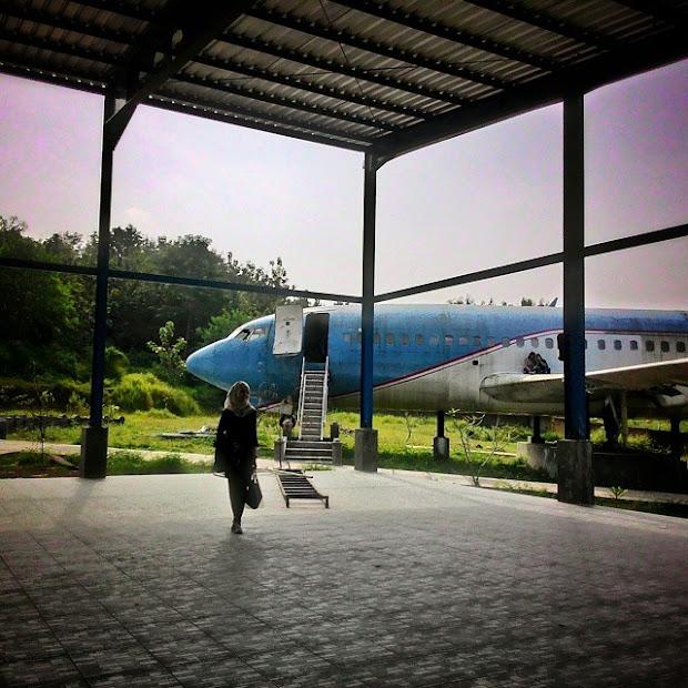 Foto pesawat di Kalipancur SMG