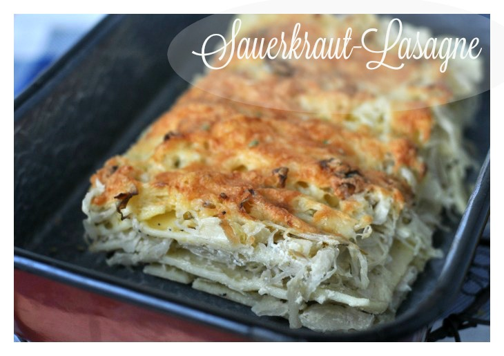 Lasagna made with sauerkraut, the perfect gluten-free soulfood for long winter nights