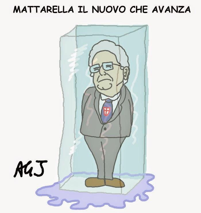 Mattarella, DC, Renzi, quirinale vignetta satira