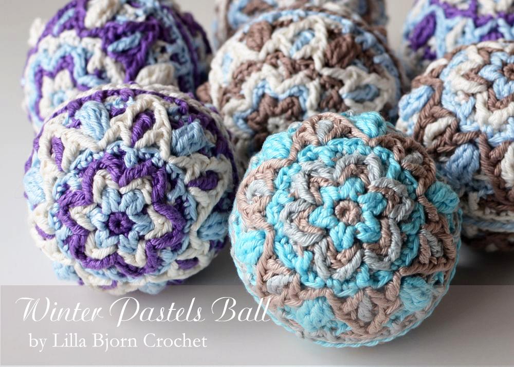 Winter Pastels Ball – New Pattern | LillaBjörn\'s Crochet World