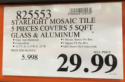 Deal for the Golden Select Glass and Aluminum Mosaic Wall Tile at Costco