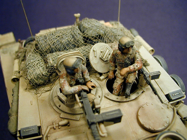 M1a1 abrams with mine plough persian gulf war 1991 both hand brush painted in chocolate chip desert camouflage pattern or desert tan military brown black and white enamel paints dubbed 100 hour war sciox Image collections