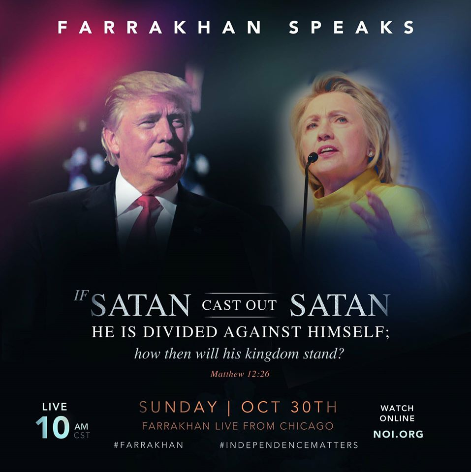 Watch replay of The Hon. Min. Louis Farrakhan's 10-30-2016 address