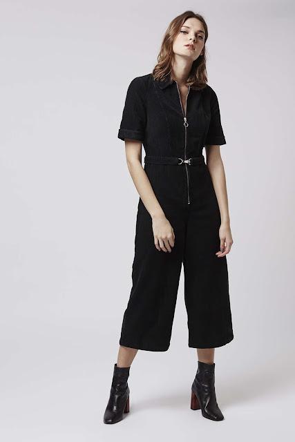 corduroy jumpsuit, zip culotte jumpsuit, topshop cord jumpsuit,