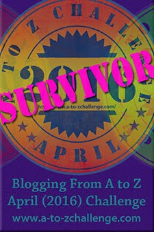 2016 A to Z Challenge Survivor