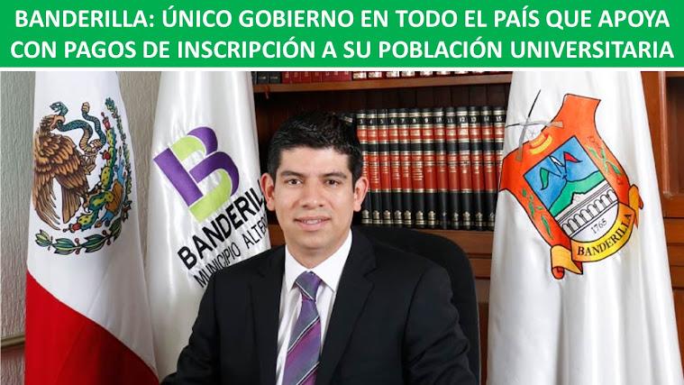 BANDERILLA: ÚNICO GOBIERNO EN TODO EL PAÍS QUE APOYA CON PAGOS DE INSCRIPCIÓN A SU POBLACIÓN UNIVER
