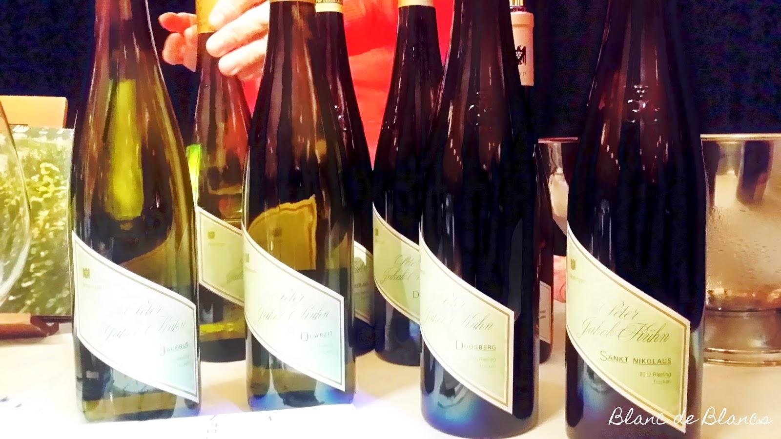 Weingut Peter Jakob Kühnin valikoima Saksan Viinitiedotuksen tilaisuudessa - www.blancdeblancs.fi