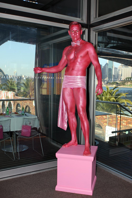 Human Statue Bodyart: Bodypainting in Sydney Art Gallery