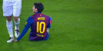 Pisotón a Messi