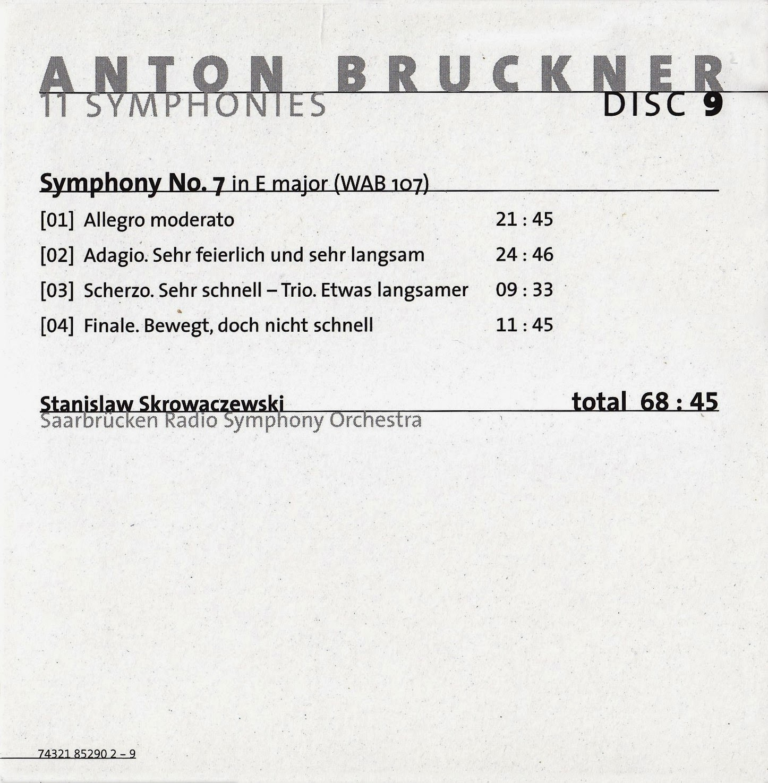sentidos bruckner sinfon a n 7 stanislaw skrowaczewski. Black Bedroom Furniture Sets. Home Design Ideas