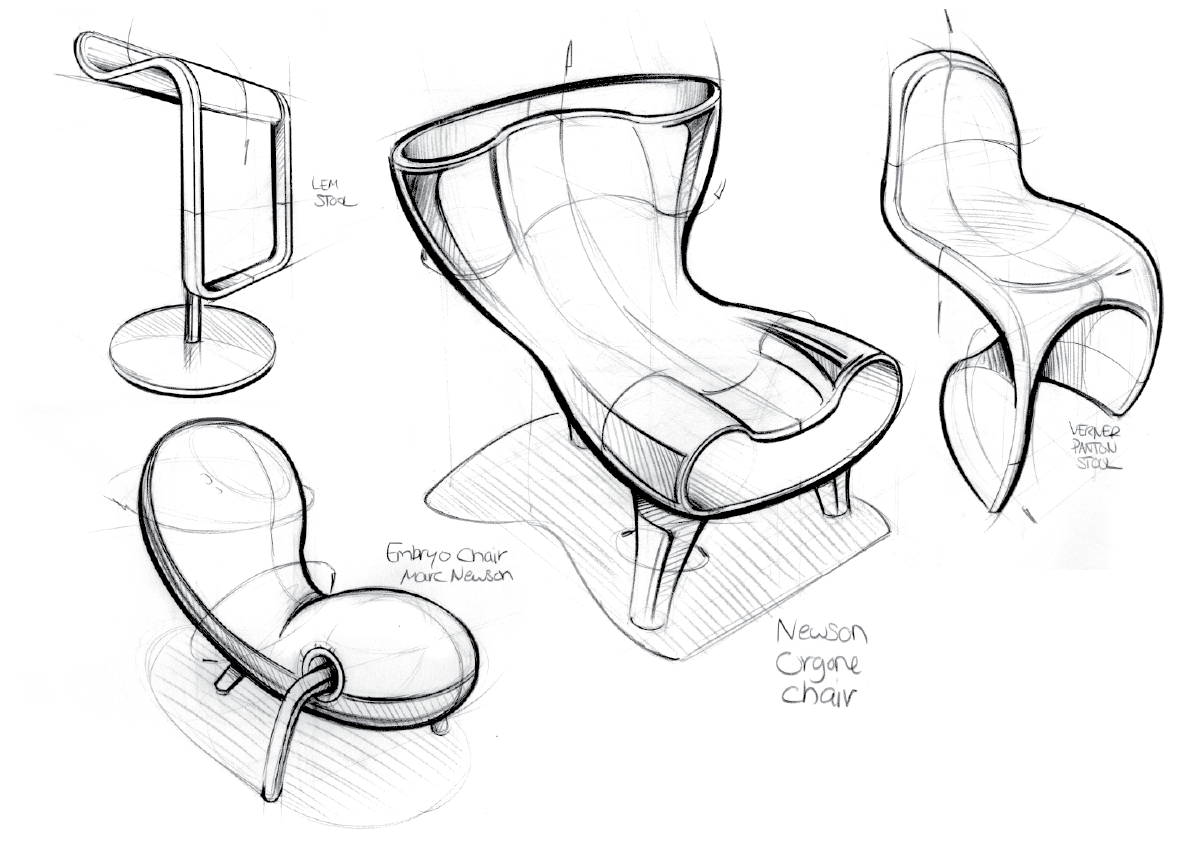 Chair Sketch notes from the atelier: more chairs!