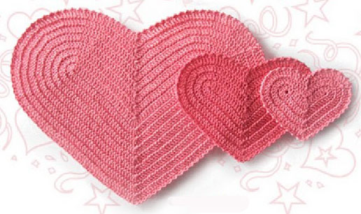 Heart Shaped Knitting Pattern : Crochet Shape Of My Heart