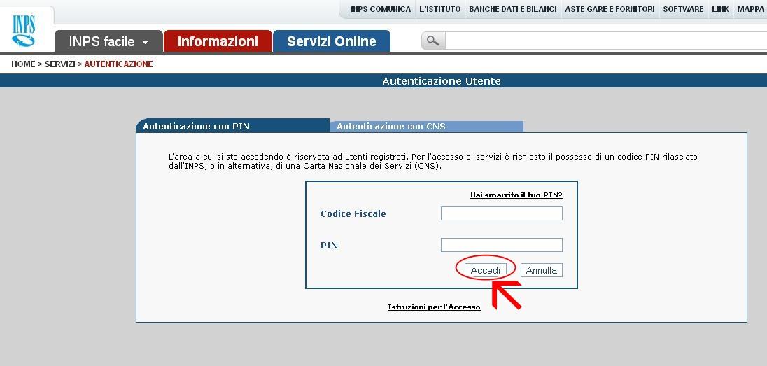 dee oswaja w ochy rejestracja na stronie internetowej inps On inps online servizi per il cittadino