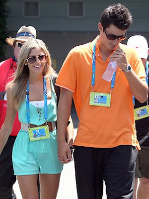 Bernard Tomic with Girlfriend